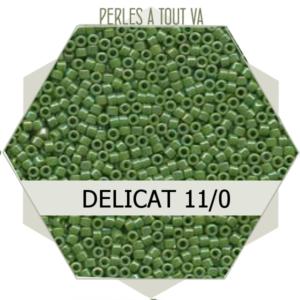 Perles Miyuki délicas Opaque Green AB 5g, perles de rocaille
