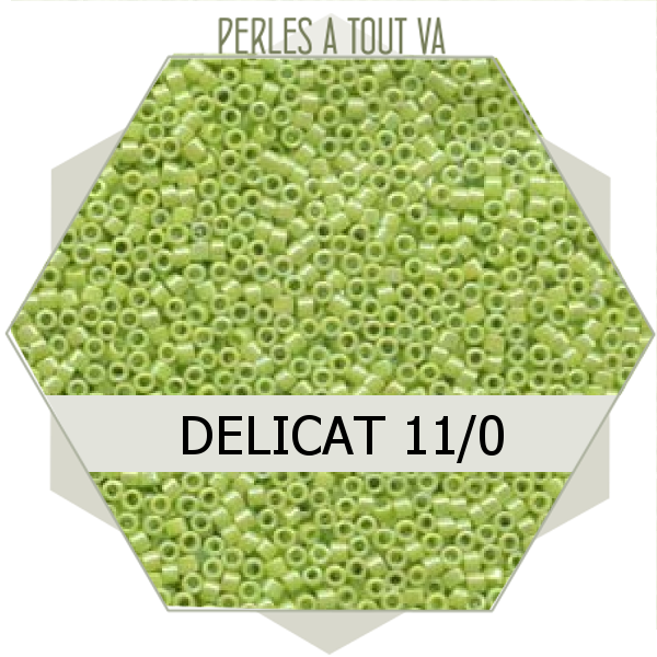 Perles Miyuki délicas  Opaque Chartreuse AB 5g, perles de rocaille