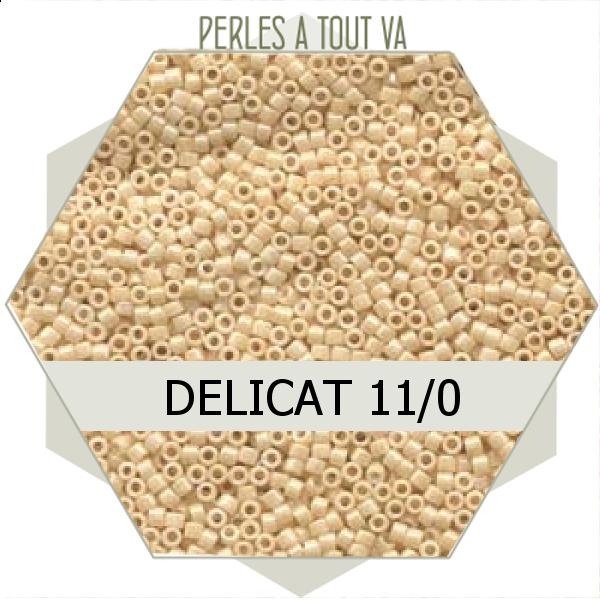 Perles Miyuki délicas Ceylon Lt. Beige 5g, perles de rocaille
