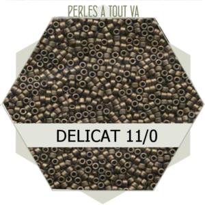 Perles Miyuki délicas Metallic Gold Matted 5g, perles de rocaille