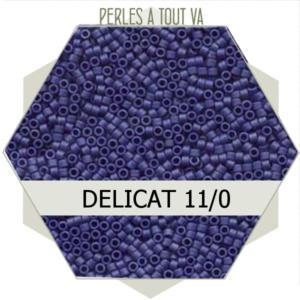 Perles Miyuki délicas Metallic Dark Grey-Blue Matted 5g, perles de rocaille