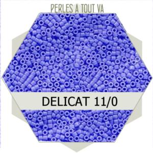 Perles Miyuki délicas Opaque Lt.Sapphire 5g, perles de rocaille