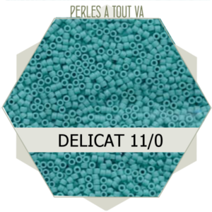 Perles Miyuki délicas Opaque Turquoise Matted 5g