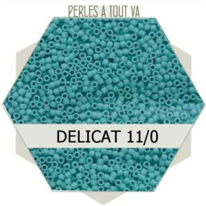 Perles Miyuki délicas Opaque Turquoise Matted 5g