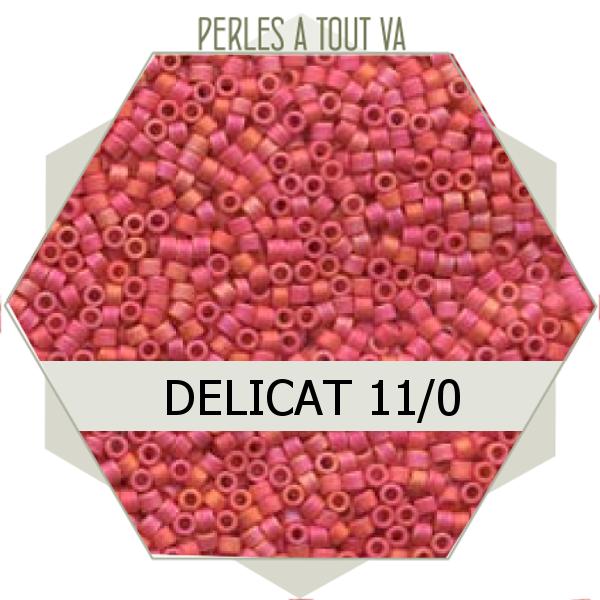Perles Miyuki délicas Opaque Cranberry AB Matted 5g, perles