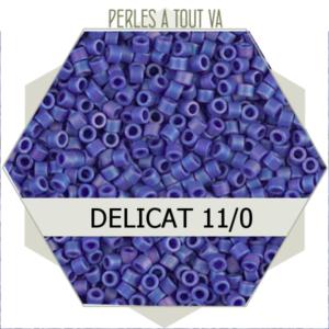 Perles Miyuki délicas Matted Opaque Cobalt AB 5g, perles