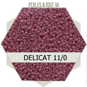 Perles Miyuki délicas Dyed Opaque Wine 5g, perles de rocaille