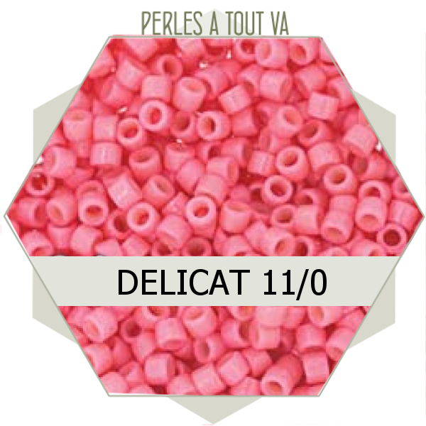 Perles Miyuki délicas Duracoat Opq Guava 5g, perles