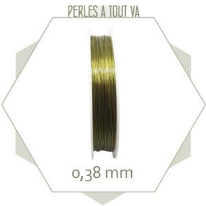 100m de fil câblé 0.38 mm couleur bronze