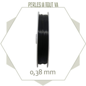 100m de fil câblé 0.38 mm couleur noir