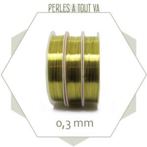 20m de fil de laiton doré 0,3mm