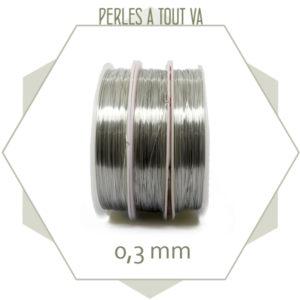 20m de fil de laiton argent 0,3mm