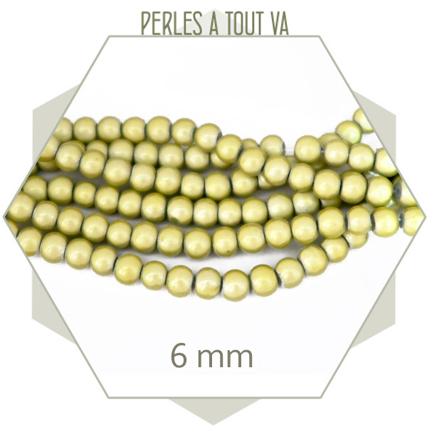 50 perles miracles 6 mm jaunes