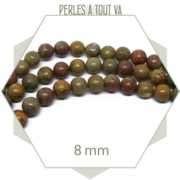 45 perles rainbow stone 8mm