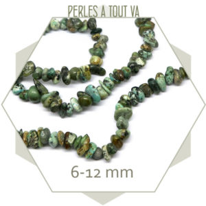40 cm de perles chips en turquoise africaine