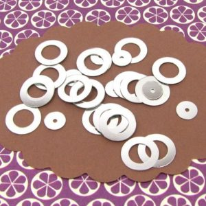 10g sequins paillettes anneaux 10mm argent
