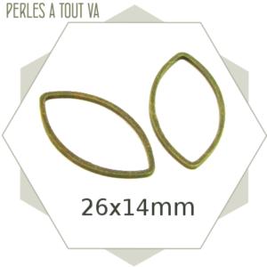 20 anneaux fermés navettes bronze grandes