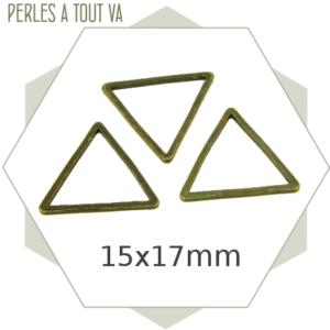 20 anneaux fermés triangles bronze