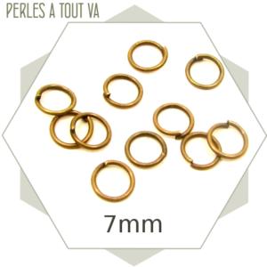180 anneaux ouverts 7mm bronze