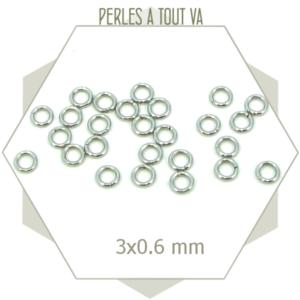 120 anneaux ouverts acier inox 3 mm