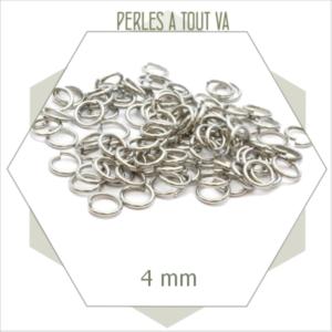 80 anneaux ouverts argent 4mm