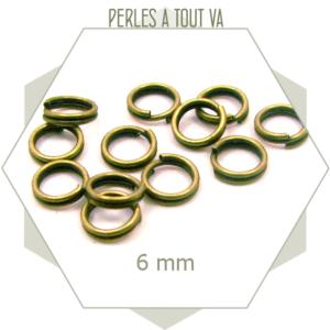 85 anneaux doubles 6mm bronze