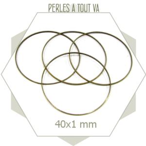 12 anneaux fermés 40 mm bronze