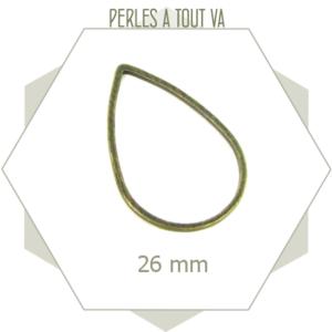 20 anneaux fermés gouttes bronze