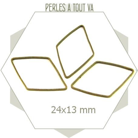20 anneaux fermés losanges bronze