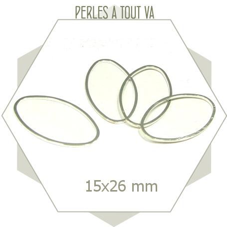 20 anneaux fermés ovales couleur argent clair