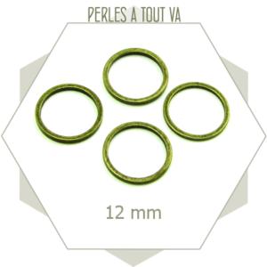 20 anneaux fermés ronds 12 mm bronze