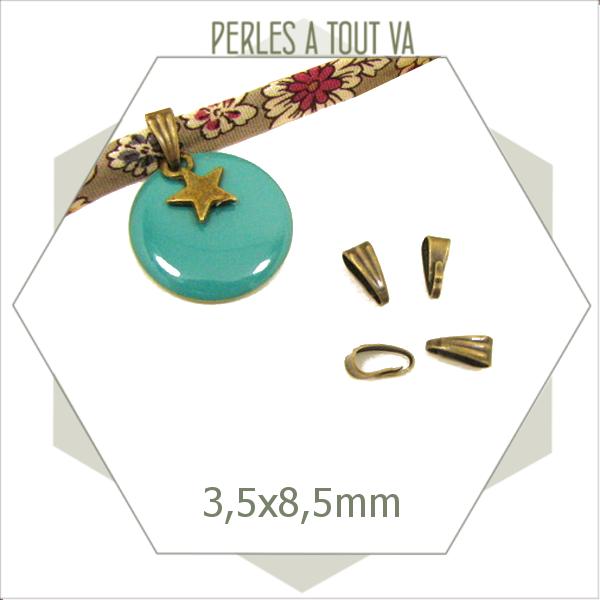 20 bélières à clipser bronze