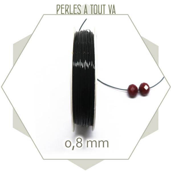Fil élastique 0,8mm noir