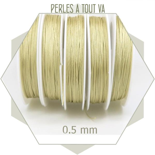 25 m de fil de jade crème 0,5 mm