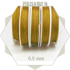 25 m de fil de jade ocre 0,5 mm