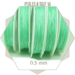 25 m de fil de jade vert d'eau 0,5 mm