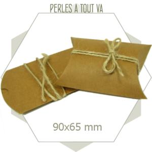 10 boites berlingots carton kraft, emballage cadeau 90x65 mm