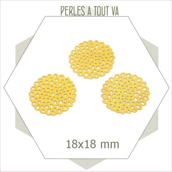 8  estampes breloques fleurs  dorées