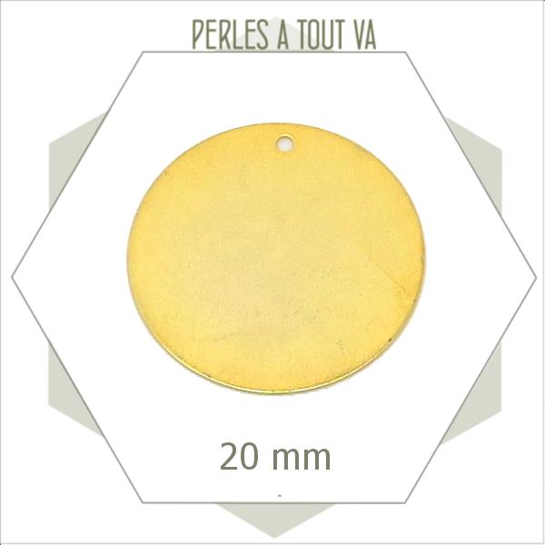 8  breloques cercles 20mm  dorés