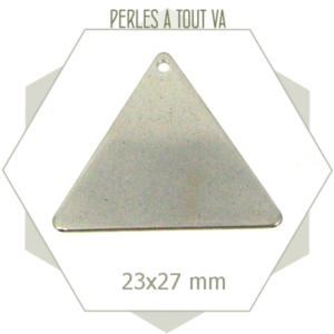 6 breloques triangles ACIER INOX