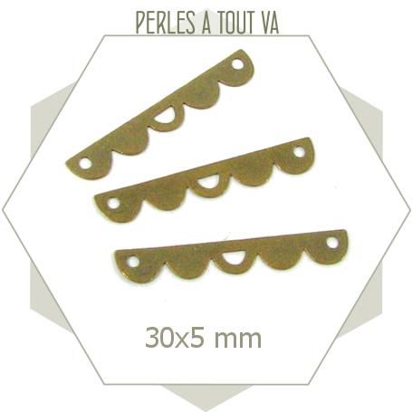 8 connecteurs feston bronze