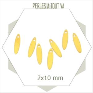 15  mini breloques navettes dorées 2*10mm