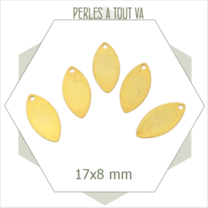 8  breloques navettes dorées 1 trou