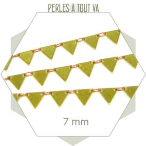 1 m de chaîne triangle laiton brut - chaîne fantaisie