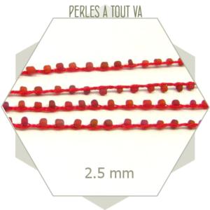 2 m de chaîne perles tressées, chaînes bracelets, chaîne au mètre