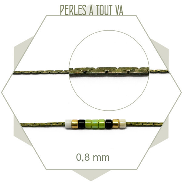 Chaîne pour bijoux : 1m de chaîne serpent 0.8 mm bronze