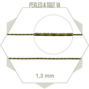 1m de fine chaîne serpent 1,3 mm bronze, support de perles miyuki