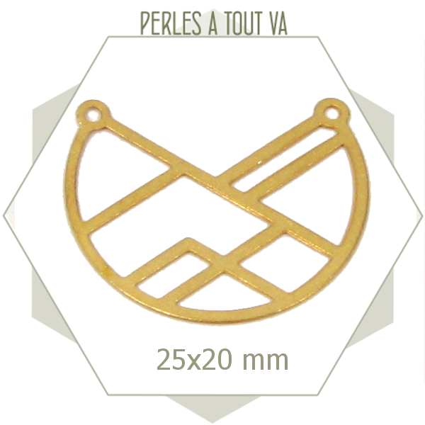 8 connecteurs arc de cercle géométriques dorés, chat