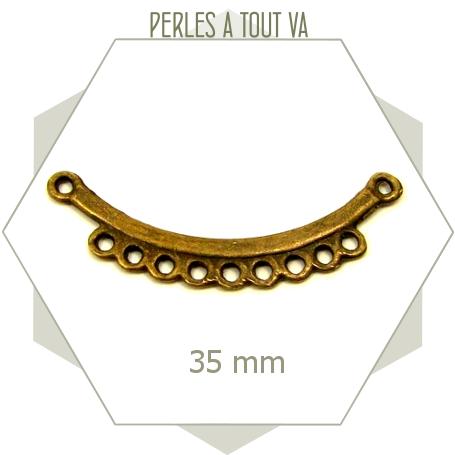 6 supports pour breloques bronze