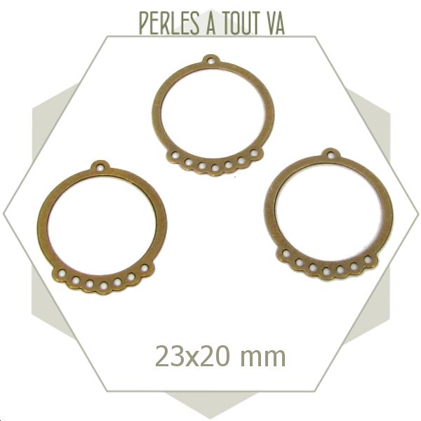 8 connecteurs cercle bronze